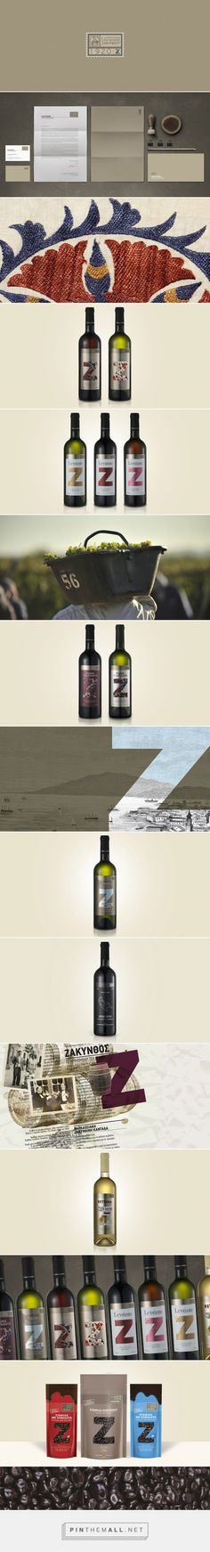 Agricultural Cooperatives Of Zakynthos #wine #packaging designed by Antonia Skaraki​ - http://www.packagingoftheworld.com/2015/07/utd-agricultural-cooperatives-of.html
