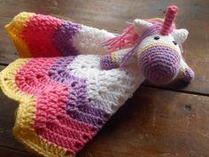 pretty pastel crochet unicorn lovey crochet by BabyBellesCrochet