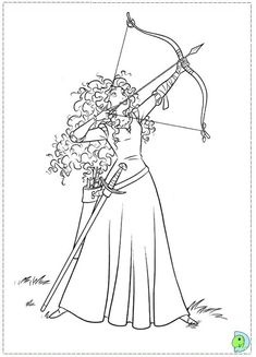 Merida Shoots for Her Own Hand coloring page from Brave category. Select from 27569 printable crafts of cartoons, nature, animals, Bible and many more. Disney Coloring Pages, Coloring Pages To Print, Free Printable Coloring Pages, Coloring Book Pages, Coloring Pages For Kids, Kids Coloring, Pintar Disney, Disney Colors, Printable Crafts