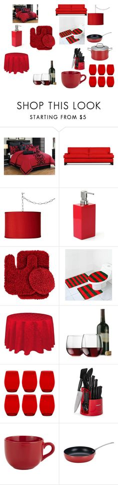 """""""My Red Home"""" by breezybrebre on Polyvore featuring interior, interiors, interior design, home, home decor, interior decorating, Thrive, Universal Lighting and Decor, Jonathan Adler and Wildon Home"""