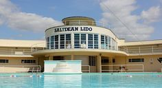 Saltdean Lido, a Grade II* listed Art Deco Lido on the outskirts of Brighton. 43m by 20m