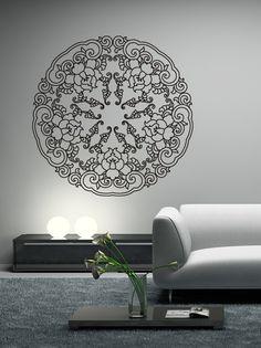 Sticker mural Fleurs de Lotus, décoration rosace, esprit asiatique, deco zen, Gali Art ©