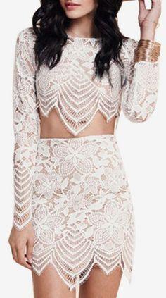 White Lace Asymmetri