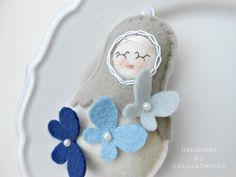 Butterfly Babushka -natural doll