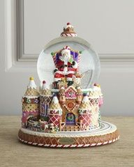 "Image detail for -Santa and Sweet Treats"" Snow Globe by Christopher Radko #Christmas"