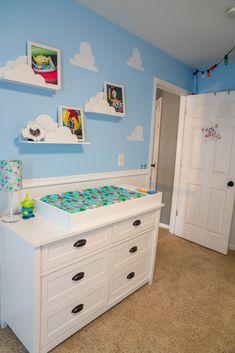 Pixar Nursery, Toy Story Nursery, Toy Story Bedroom, Toy Story Baby, Nursery Themes, Room Themes, Nursery Room, Disney Nursery, Baby Boy Room Decor