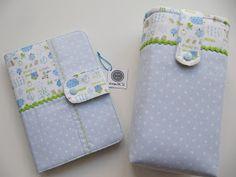 Bolsa para documentos de bebé e bolsa para transportar as fraldas. Adoro!