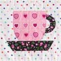 Teacup: FREE Fusible Appliqué Tea Cup Quilt Block Pattern, featured in McCall's Quick Quilts April/May 2013
