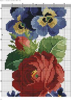 ru / Фото - a - kento / Flower border Cross Stitch Borders, Cross Stitch Flowers, Cross Stitch Charts, Cross Stitch Designs, Cross Stitching, Cross Stitch Patterns, Blackwork Embroidery, Cross Stitch Embroidery, Embroidery Patterns