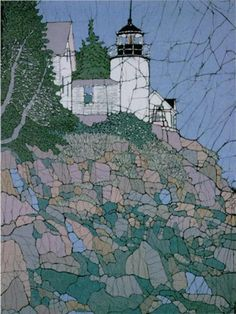 Bass Harbor Light, Batik Limited Edition Print by Terri Haugen. $65,00, via Etsy.