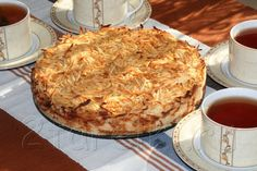 Яблочный пирог «3 стакана» - Сочная начинка и хрустящая сахарная корочка