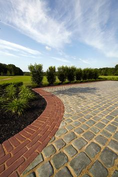 Courtstone® Driveway with Copthorne® Available at Vanbeek's Garden Supplies http://www.vanbeeks.com/