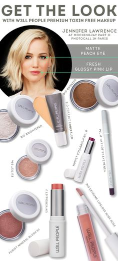W3LL DONE: Get this beautiful Jennifer Lawrence look using all-natural beauty products from W3LL PEOPLE.
