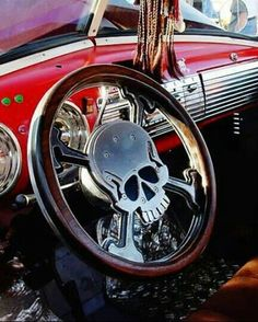 Skull and Crossbones billet wheel. Skull Decor, Skull Art, Rat Rods, My Dream Car, Dream Cars, Pt Cruiser, Trucks, Us Cars, Skull And Bones
