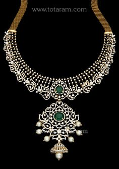 18 Karat Gold in Diamond Necklace with Japanese Culture Pearls & Color Stones This Product has a Detachable Pendant which can be used as a separate Pe Gold Jewellery Design, Gold Jewelry, Diamond Jewellery, Pearl Necklace Designs, Diamond Necklace Set, Japanese Culture, Cultured Pearls, Bridal Jewelry, 18k Gold