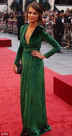 Swedish actress Alicia Vikander at the premiere for Anna Karenina