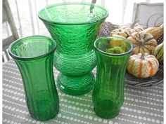 More green vases to match my Granny's!