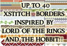 Hey, I found this really awesome Etsy listing at https://www.etsy.com/listing/165543415/middle-earth-borders-pattern