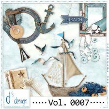 Vol. 0007 - Beach Mix  by Doudou's Design  cudigitals.com cu commercial scrap scrapbook digital graphics#digitalscrapbooking #photoshop #digiscrap