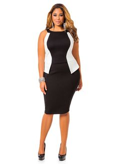 From vintage inspired to casual chic, find your plus size dress style in our wide selection of casual dresses! Plus Size Cocktail Dresses, Evening Dresses Plus Size, Plus Size Maxi Dresses, Day Dresses, Casual Dresses, Dinner Dresses, Curvy Girl Fashion, Plus Size Fashion, Colorblock Dress
