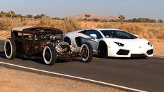 Rat Rod vs Lamborghini Aventador! Roadkill Episode 5