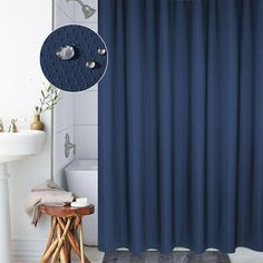 2017 Europe Shower Curtains Waterproof Mildew Plain Curtains Polyester Honeycomb Pattern Blue Color Curtain For Bathroom Home