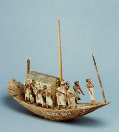 Scheepsmodel van Djehoetyhotep