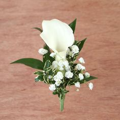 White #calla lily #boutonniere by Ben White Florist.