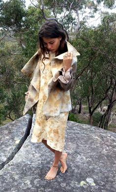 Funky eco pixie nuno felt jacket by GinaMastio on Etsy