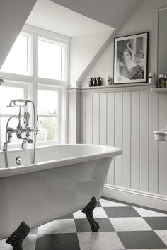 Colours - wood panelling although our bathroom will be grey walls (as they are) and white panelling