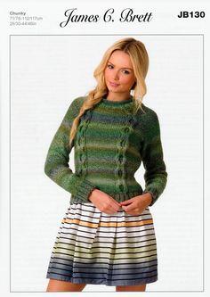 Sweater in James C. Brett Marble Chunky (JB130) | James C. Brett Knitting Patterns | Knitting Patterns | Deramores