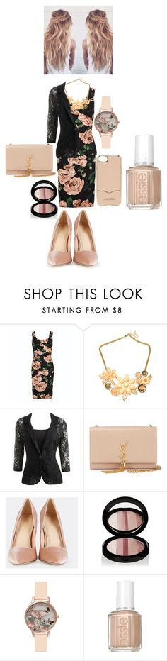 """""""Same Color Outfit"""" by bananao3 ❤ liked on Polyvore featuring HUGO, Arden B., Yves Saint Laurent, Edward Bess, Olivia Burton, Essie and Rebecca Minkoff"""
