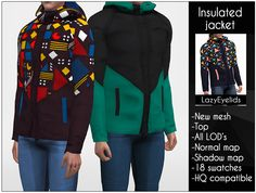 The Sims 4 Insulated jacket by lazyeyelids The Sims 4 Pc, Sims 4 Mm Cc, Sims 4 Cas, Sims 4 Men Clothing, Sims 4 Male Clothes, Male Jumper, Sims 4 Collections, Sims4 Clothes, Sims 4 Toddler
