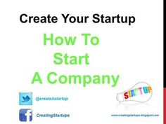 How to Start a Business Company - Business Company, Start Up Business, Starting A Business, Starting A Company, Business Entrepreneur, Startups, Create Yourself