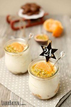 Einfaches Weihnachtsdessert im Glas: Lebkuchen Zimtcreme mit Mandarinen