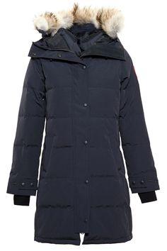 Canada Goose' Women's Fur-Trimmed Shelburne Parka-DARK GREY Size XS