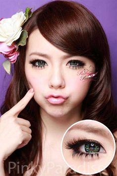 Vassen Little Mermaid Seaweed Green Circle Lenses (Colored Contacts)