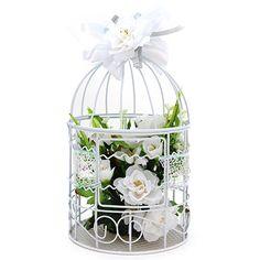 Proyectos |Adorno jaula c/ rosas blancas