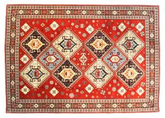 Ardabil- Ardabil rugs feature motifs that are very similar to Caucasian rugs, but with more motifs and objects woven into the borders. The colors are also lighter. The patterns are predominantly geometric and the most common layouts on Ardabil rugs are medallions, multiple connected diamond-shaped medallions, and all-over octagonal shapes.