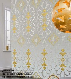 golden wall tiles for modern interior design