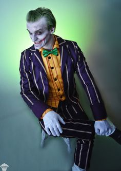 The Joker cosplay from Batman: Arkham Asylum by The Puddins' Cosplay