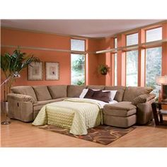 legacy dual reclining left arm loveseat sleeper and right arm chaise sectional by klaussner