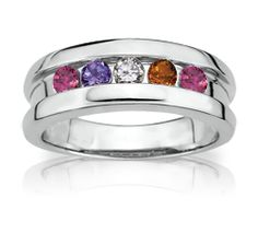Beautiful Channel Set Mothers Ring
