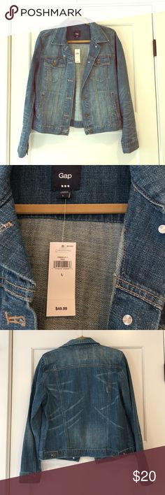 Brand new with tags gap Jean jacket Perfect for almost every outfit! Jeans jackets go with everything and look good on everyone! GAP Jackets & Coats Jean Jackets