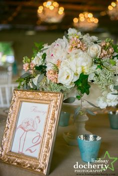 For a couple from California, this garden wedding is the perfect mix of Pennsylvania and California cool. From the sushi appetizers, to the surfboard guest book and the beautiful surroundings of the . Mod Wedding, Garden Wedding, Wedding Day, Wedding Flower Inspiration, Wedding Flowers, Thanks Card, Wedding Decorations, Table Decorations, Table Signs