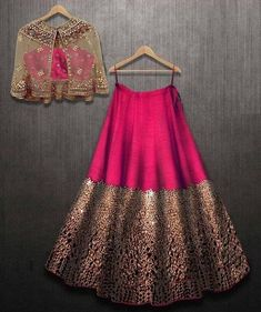 Excited to share this item from my shop: VeroniQ Trends- Designer Lehnga Choli in foil mirror work with A koti or jacket in Royal Majenta Color-Engagement,partywear Indian Gowns Dresses, Indian Fashion Dresses, Dress Indian Style, Indian Designer Outfits, Indian Outfits, Designer Clothing, Indian Wedding Dresses, Indian Dresses For Women, Pakistani Clothing