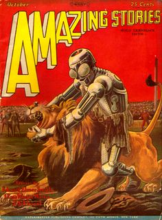 Amazing Stories Oct 1928 - Cover art by Frank R. Paul
