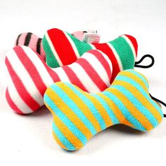 Brand New Fashion Pet Toy Dog Chew Throw With Sound Squeaker Cotton Wool Bone E2shopping TB Sale