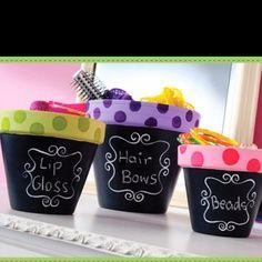 Flower pot idea for the Girl Cave bathroom