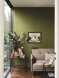 British paint manufacturer Farrow & Ball has expanded its extensive color card with nine new shades. Carefully chosen to balance Farrow & Ball'. Living Room Green, Living Room Colors, Living Room Decor, Interior Paint Colors For Living Room, Room Wall Colors, Dining Room, Bedroom Colors, Green Paint Colors, Green Wall Color